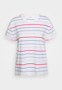 SHORT SLEEVE A SHAPED DYE STRIPE - Print T-shirt - multi/scandinavian white