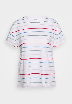 SHORT SLEEVE A SHAPED DYE STRIPE - Print T-shirt - multi/scandinavian white