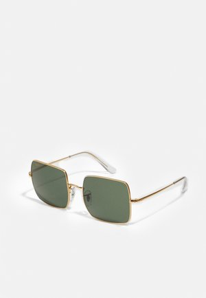 SQUARE - Sonnenbrille - gold-coloured/light green