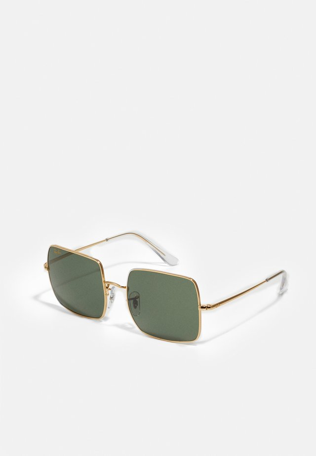 SQUARE - Gafas de sol - gold-coloured/light green