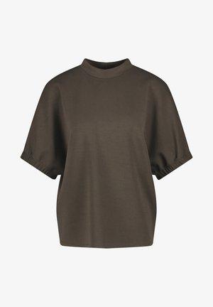 MIT WEITEM KURZARM - T-shirt basic - ebony