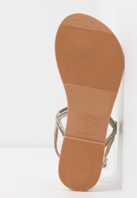 New Look Wide Fit - WIDE FIT GLITZ - T-bar sandals - silver - 6