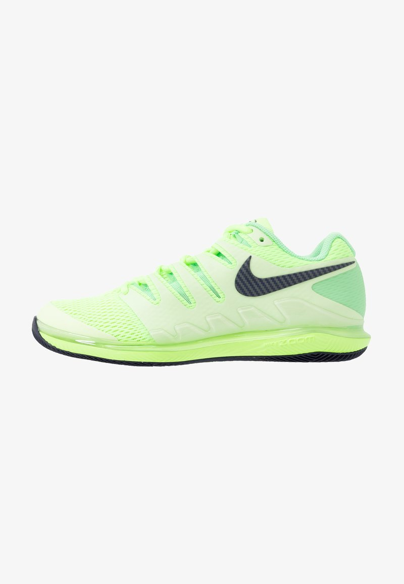 Nike Performance - AIR ZOOM VAPOR X - Buty tenisowe uniwersalne - ghost green/blackened blue/barely volt
