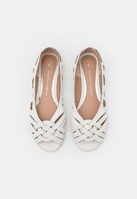 Dorothy Perkins - PEARLENE  - Peeptoe ballet pumps - white - 5
