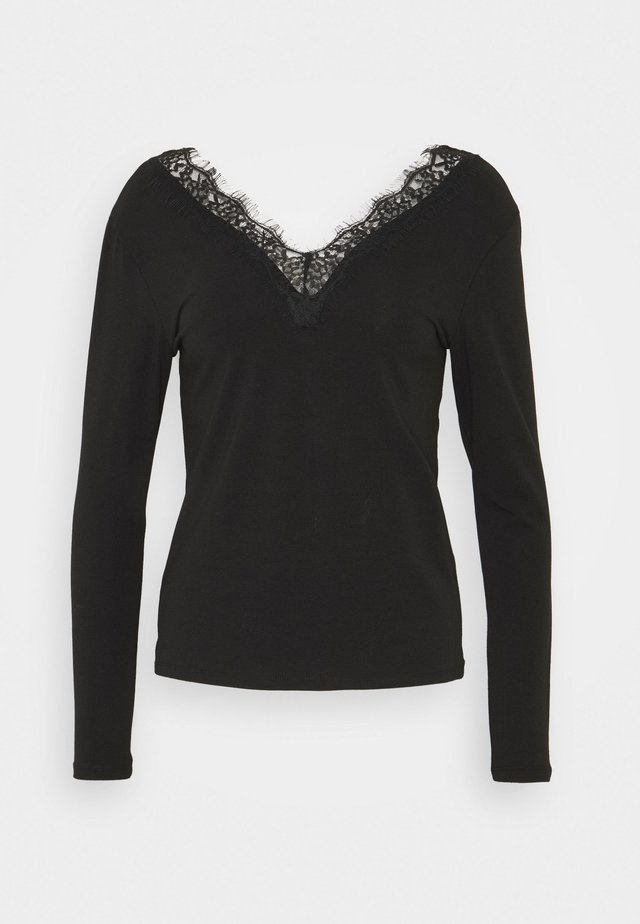 ONLINA LIVE LOVE - Long sleeved top - black