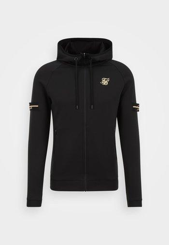 EXPOSED TAPE ZIP THROUGH  - Zip-up sweatshirt - black