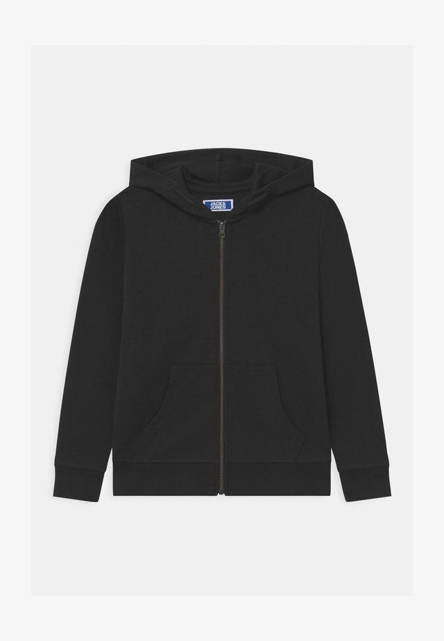 JJEBASIC ZIP HOOD  - veste en sweat zippée - black