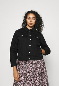 Selected Femme Curve - SLFTENNA JACKET - Denim jacket - black denim - 0