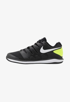 AIR ZOOM VAPOR - Clay court tennis shoes - black/white/volt