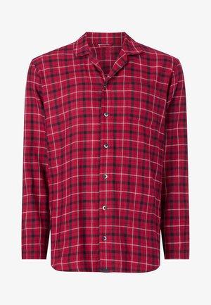 Pyjama top - gannett plaid_sweet berry
