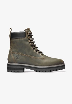 COURMA GUY BOOT WP - Snörstövletter - olive full grain