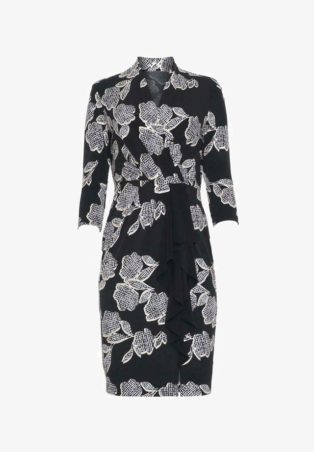Day dress - schwarz weiß