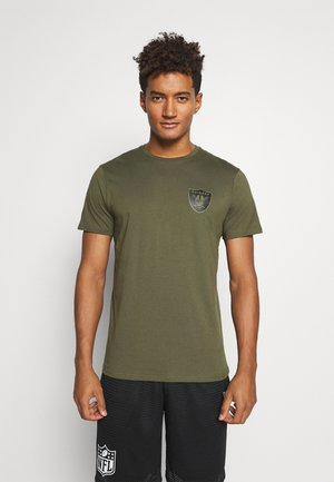 NFL DIGI CAMO OAKLAND RAIDERS TEE - Club wear - olive