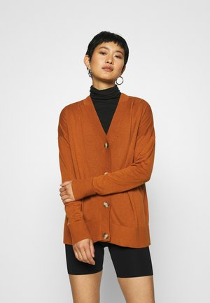 BUTTOND CARDI - Kardigan - rust brown