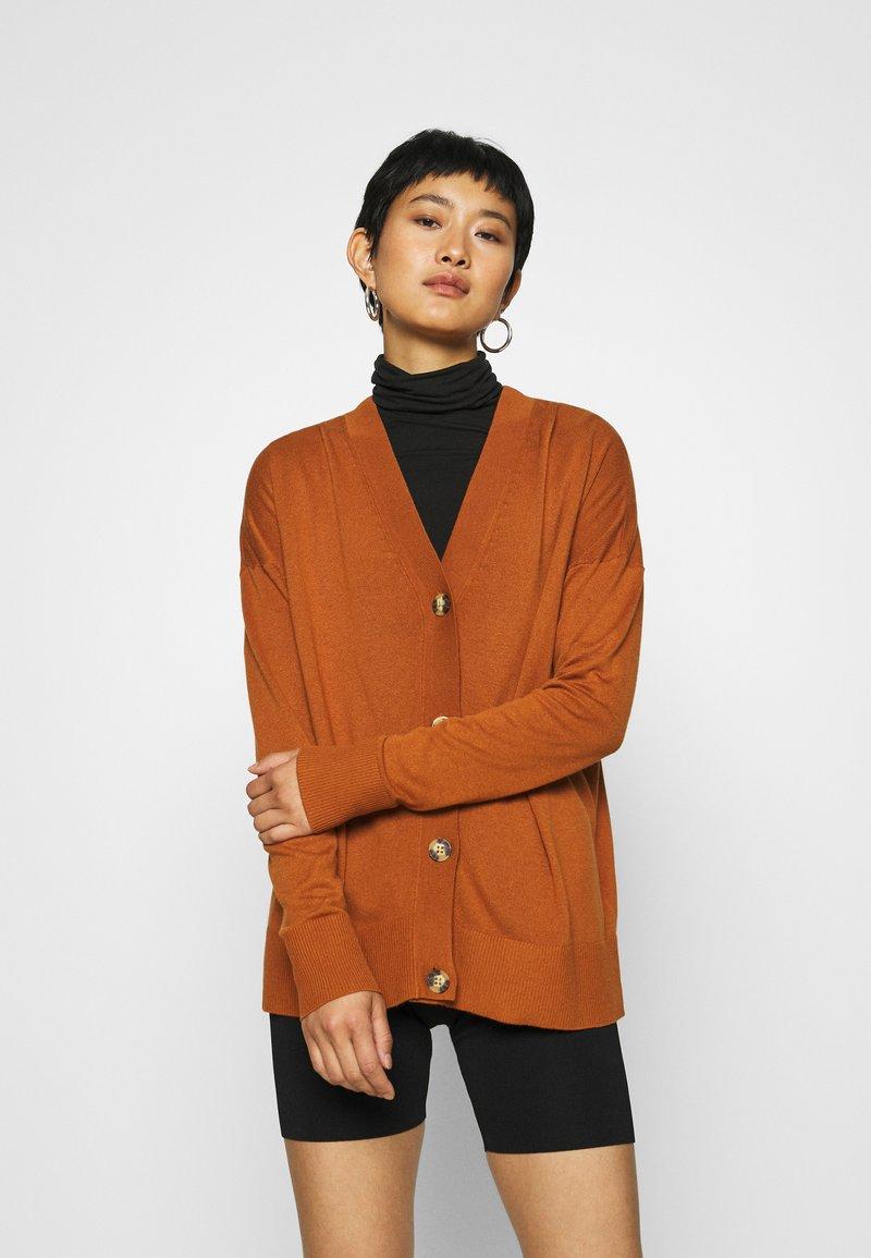 Esprit - BUTTOND CARDI - Cardigan - rust brown