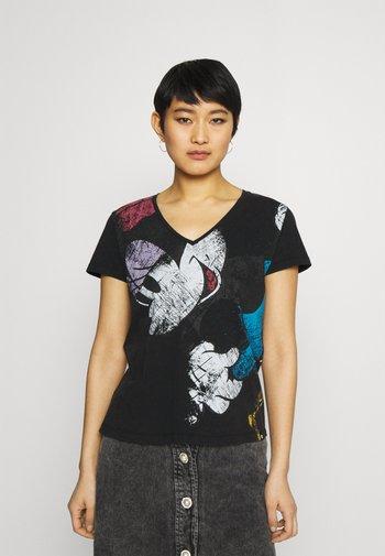 MINNIE - T-shirts med print - black