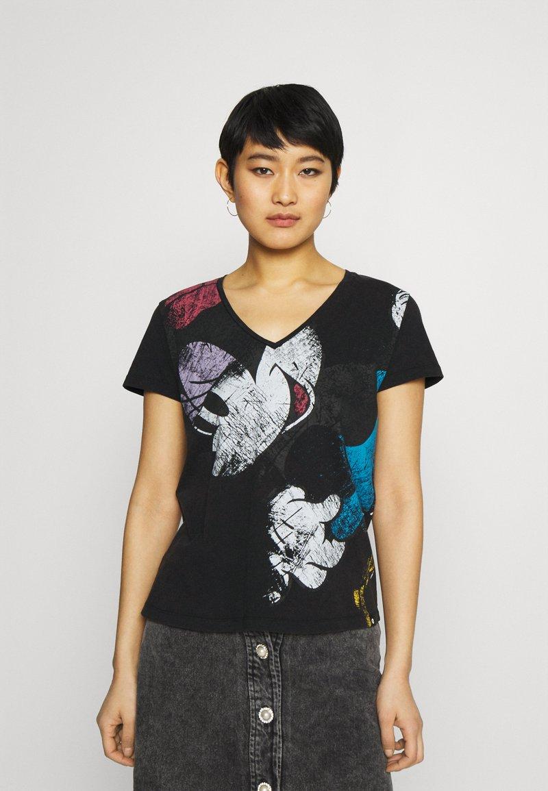 Desigual - MINNIE - T-shirt z nadrukiem - black