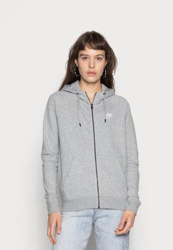 HOODIE - Sweater met rits - grey heather/white