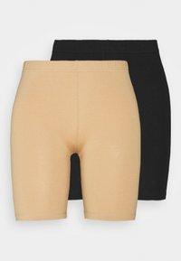 Vero Moda - VMMAXI BIKER 2 PACK - Shorts - black/tan - 0