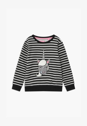 SMALL GIRLS - Sweatshirt - black/white