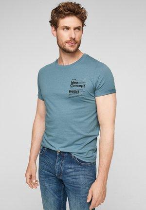 MIT PRINT - Print T-shirt - light blue