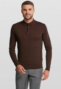 Van Gils - LONGSLEEVE - Polo shirt - dark brown - 0