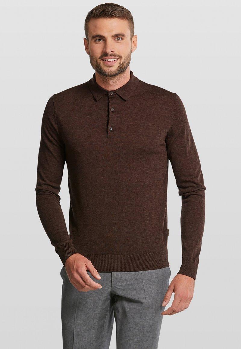Van Gils - LONGSLEEVE - Polo shirt - dark brown