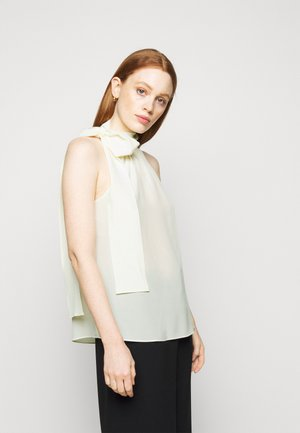 HALTER TIE NECK - Top - bone