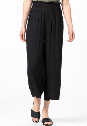 MIT GUMMIZUG - Trousers - schwarz