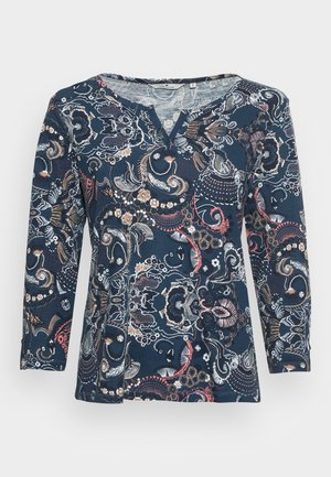Long sleeved top - blue apricot design