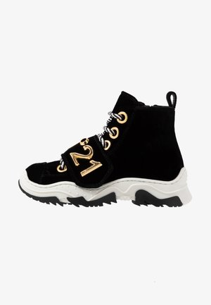 High-top trainers - black/gold