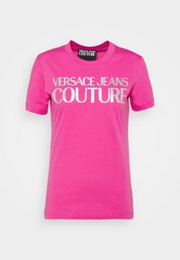 Versace Jeans Couture - Print T-shirt - pink/silver - 4