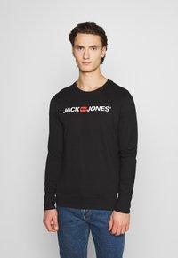 Jack & Jones - JOR30HISTORY CREW NECK - Long sleeved top - black/white - 0