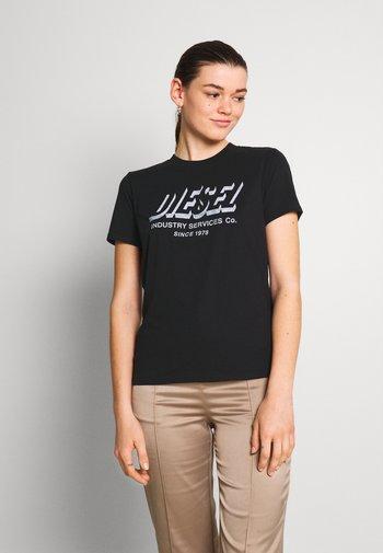 SILY - Print T-shirt - black