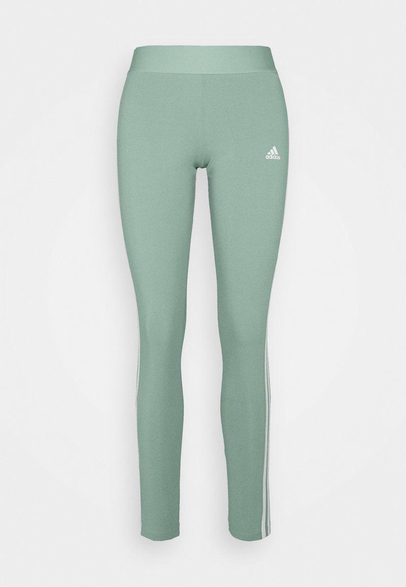 adidas Performance - Tracksuit bottoms - haze green/white