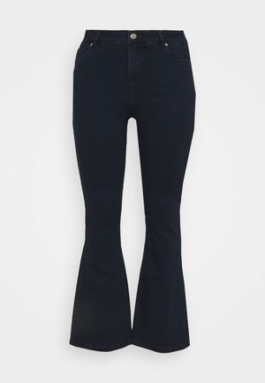 KIM HIGH WAIST SUPER SOFT  - Džíny Bootcut - dark indigo