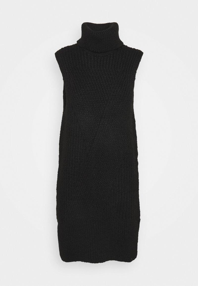 YAS - Abito in maglia - black