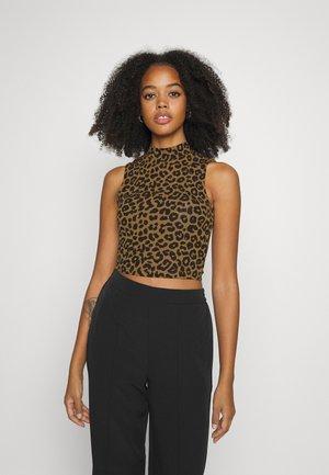 KAORI TOP - Top - brown leopard