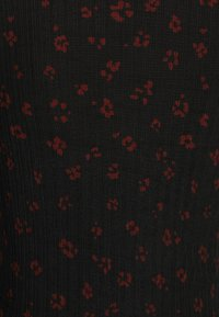 TOM TAILOR DENIM - LONGSLEEVE WITH LETTUCE EDGES - Long sleeved top - black rust flower print - 2