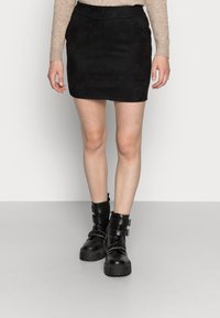 ONLY - ONLJULIE BONDED  - Pencil skirt - black - 0