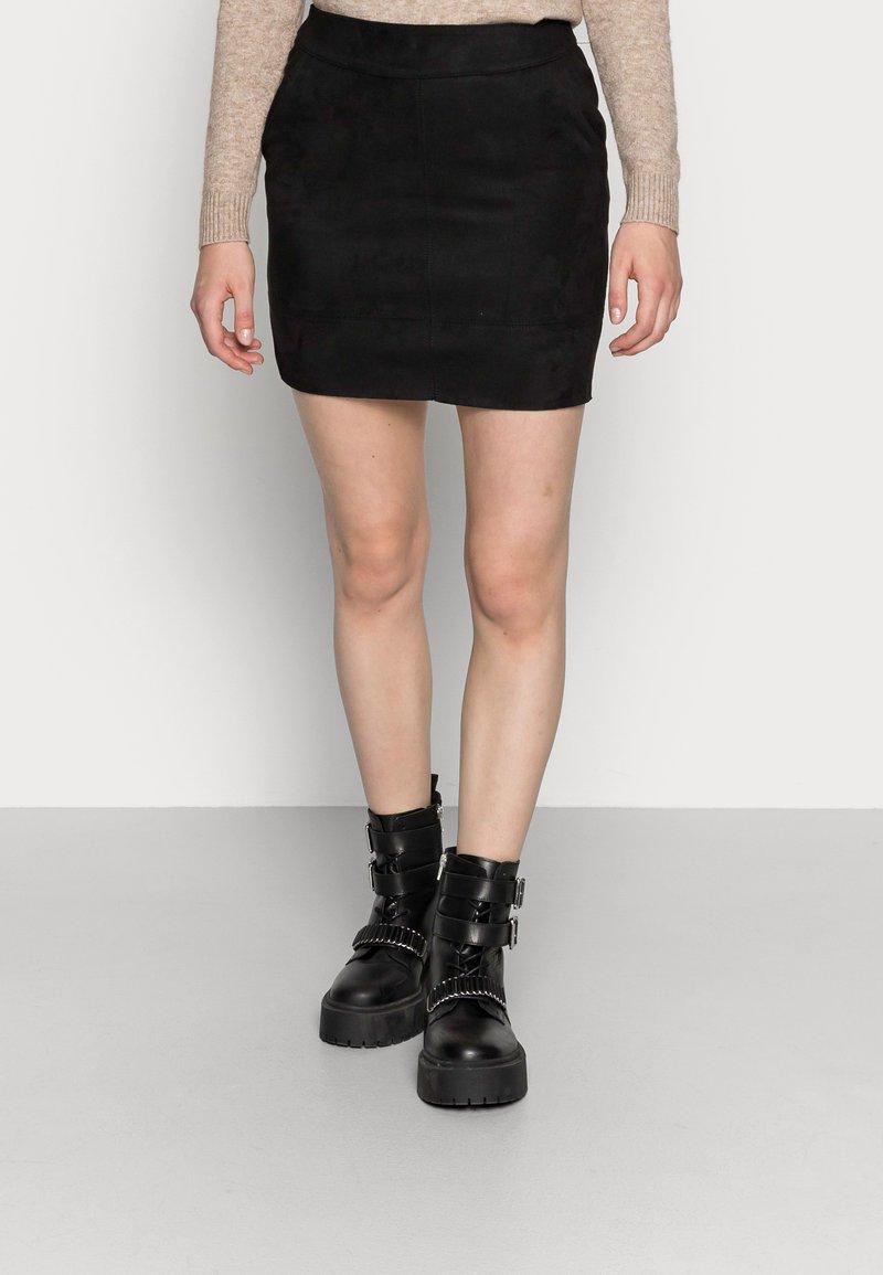 ONLY - ONLJULIE BONDED  - Pencil skirt - black