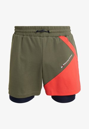 BLOCK SHORT - Sports shorts - beetle