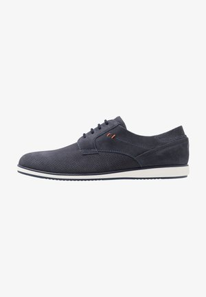 LEATHER - Sportieve veterschoenen - dark blue