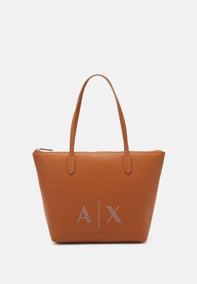 WOMANS - Shopping bag - cognac