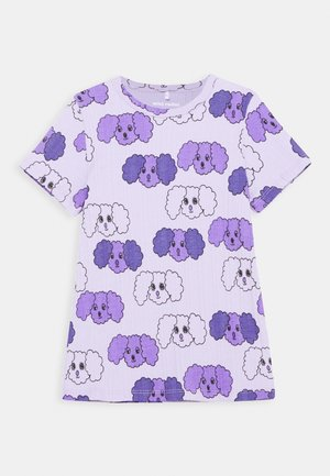 FLUFFY DOG UNISEX - Print T-shirt - purple