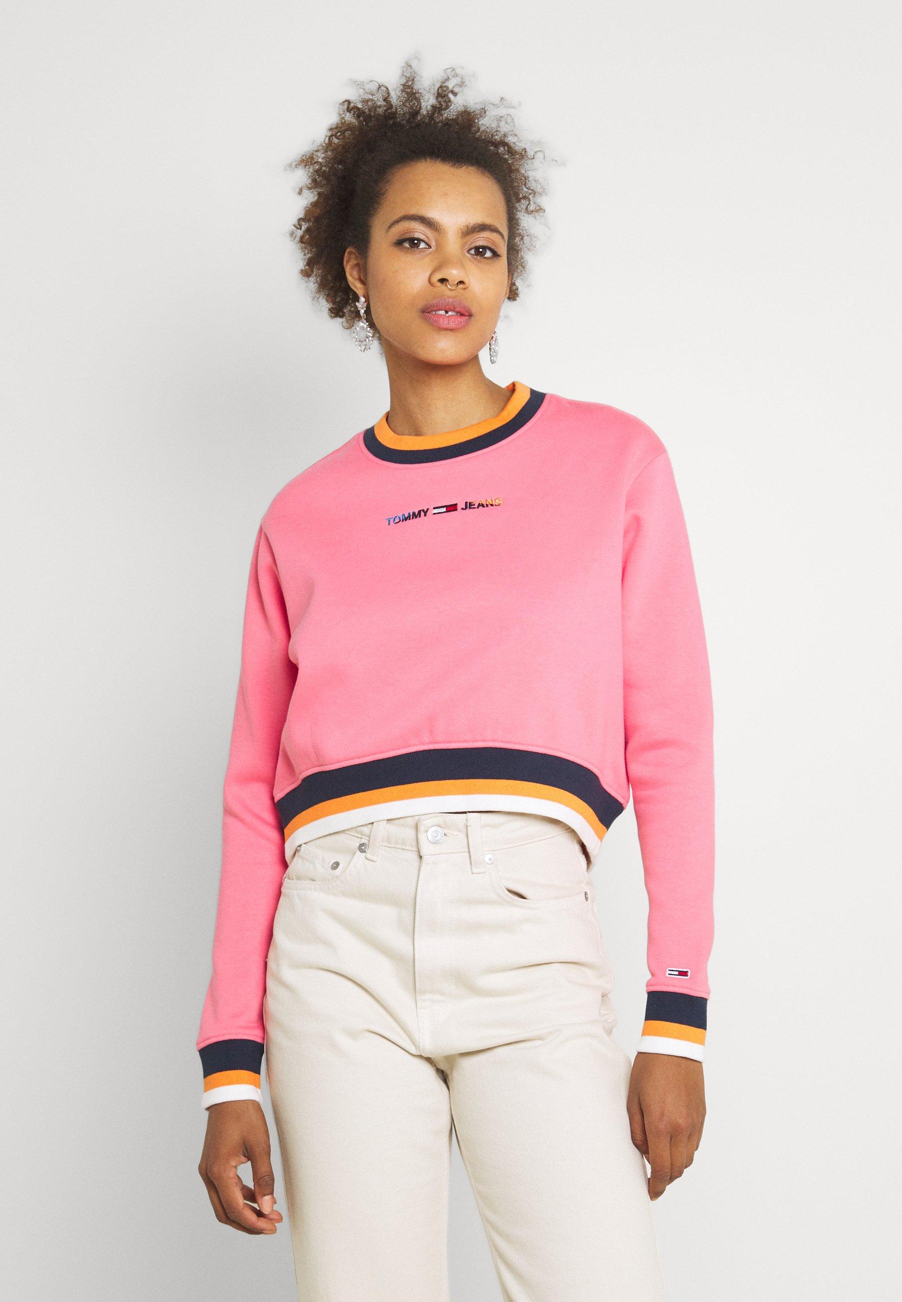 Women REGULAR CROP TIPPING CREW - Sweatshirt