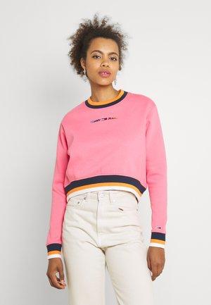 REGULAR CROP TIPPING CREW - Sweatshirt - botanical pink