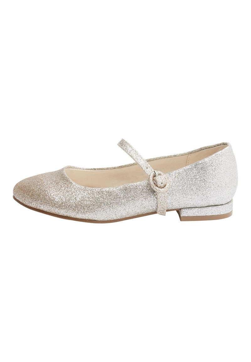 Next - SILVER/GOLD GLITTER HEELED MARY JANE SHOES (OLDER) - Baleriny - gold