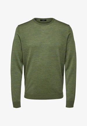 SLHTOWER - Trui - fir green