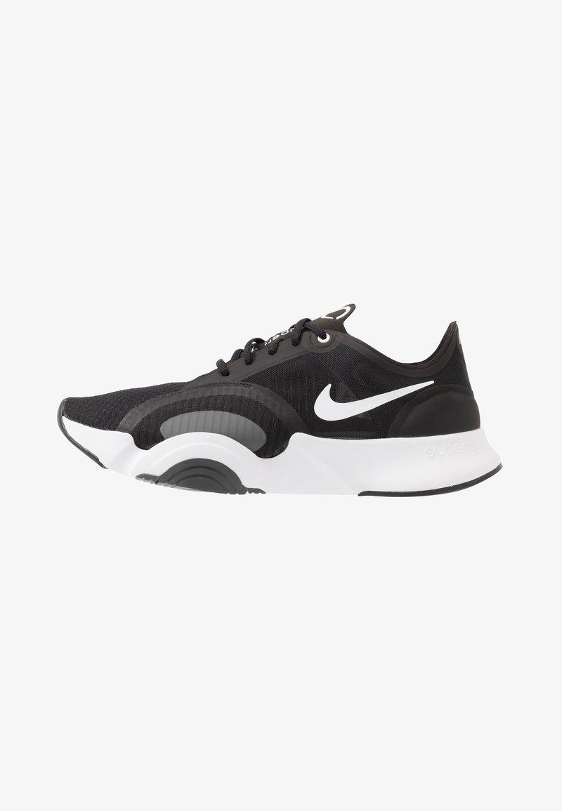 Nike Performance - SUPERREP GO - Sports shoes - black/white/dark smoke grey